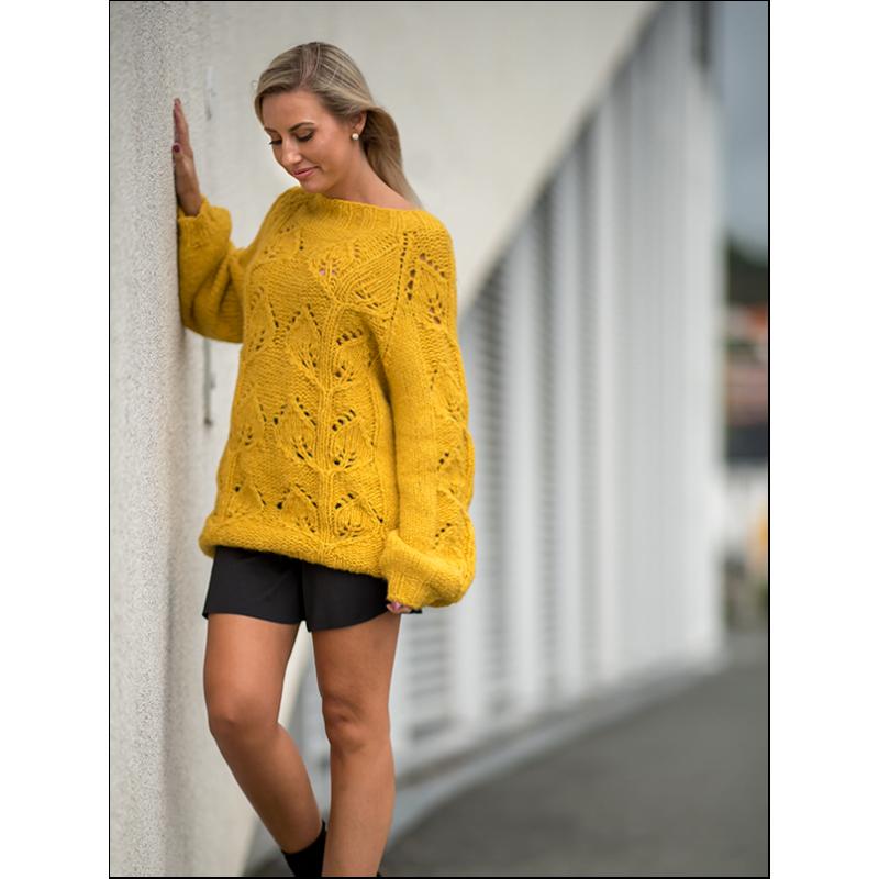 Bladranke genser