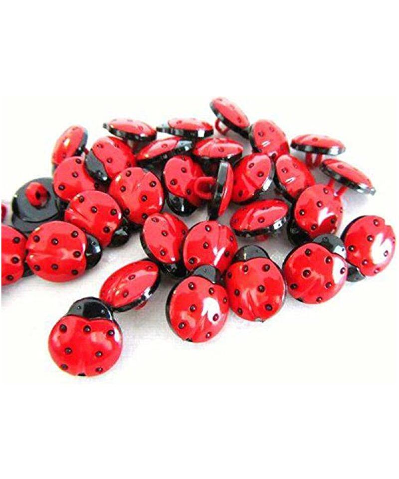 Marihøne knapper ladybug buttons